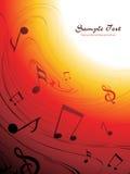 Illustration of musical background Stock Photo