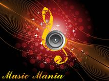 Illustration of musical background Stock Photography