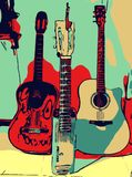 Illustration musical guitar stock photography