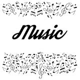 Illustration of musical notes Royalty Free Stock Photo
