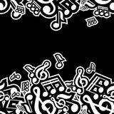 Illustration of musical notes Stock Photo