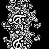 Illustration of musical notes Stock Photos