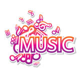 Illustration of musical notes Royalty Free Stock Image