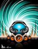 Illustration for a musical theme Royalty Free Stock Image