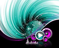 Illustration for a musical theme Royalty Free Stock Images