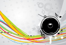 Illustration for a musical theme with speakers Stock Images