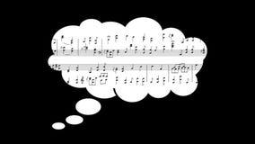 Illustration musicale et ballon banque de vidéos