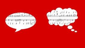 Illustration musicale et ballon clips vidéos