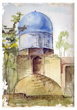 Illustration of muslim architecture Stock Photo