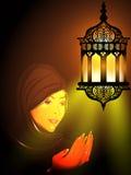 Illustration of a Muslim girl Stock Photos