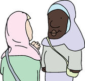 Muslim Ladies Talking Royalty Free Stock Image