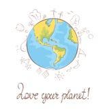 Illustration -- My favorite blue planet Stock Images
