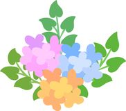 Illustration of mysterious flowers Royalty Free Stock Photo