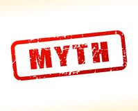 Myth text buffered. Illustration of myth text buffered on white background Royalty Free Stock Photos