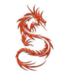 Illustration of a mythical dragon. On a white background Stock Images