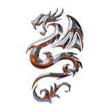 Illustration of a mythical dragon. Isolated Royalty Free Stock Photography