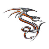 Illustration of a mythical dragon Stock Image