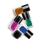 Illustration of nail polish bottles Royalty Free Stock Photo