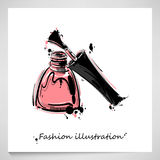 Illustration of nail polish. Vector illustration of nail polish. Fashion illustration. Beauty and fashion Stock Photo