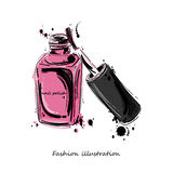 Illustration of nail polish. Royalty Free Stock Image