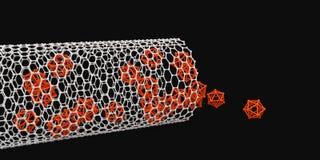 Illustration of nanotube on black backround Royalty Free Stock Image