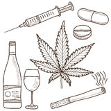 Illustration of narcotics Stock Photography