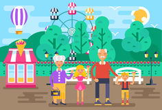 The illustration for national grandparents day Royalty Free Stock Image