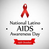 Illustration of National Latino AIDS Awareness Day Background Stock Photos