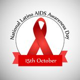 Illustration of National Latino AIDS Awareness Day Background Stock Photography