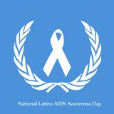 Illustration of National Latino AIDS Awareness Day Background. Illustration of elements of National Latino AIDS Awareness Day Background Royalty Free Stock Photography