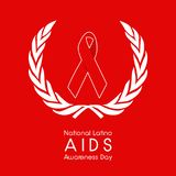 Illustration of National Latino AIDS Awareness Day Background. Illustration of elements of National Latino AIDS Awareness Day Background Stock Photos