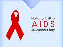 Illustration of National Latino AIDS Awareness Day Background Royalty Free Stock Images