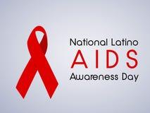 Illustration of National Latino AIDS Awareness Day Background Royalty Free Stock Image