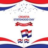 Illustration nationale de conception de calibre de vecteur de c?l?bration de jour de Statehood de la Croatie illustration stock