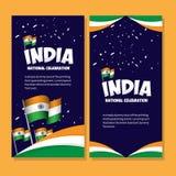 Illustration nationale de conception de calibre de vecteur d'affiche de c?l?bration de l'Inde illustration de vecteur