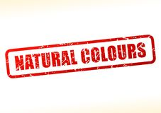 Natural colours text buffered Stock Images