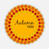 Illustration naturelle de Sunny Autumn Leaves Frame Background Vector Photographie stock