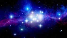 Illustration of a nebula royalty free illustration