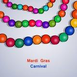 Illustration of elements of Mardi Gras Carnival stock illustration