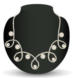Necklace women for marriage with pearls and precio Royalty Free Stock Images