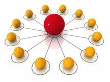 Illustration Network Connection Konzeptes 3d vektor abbildung