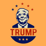 Illustration the never Donald Trump, flat design. Human, leader, wealthy, america, usa, expressive, red, day, business, president, , government, politics, star Royalty Free Stock Photos