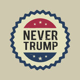 Illustration the never Donald Trump, flat design. Human, leader, wealthy, america, usa, expressive, red, day, business, president, , government, politics, star Royalty Free Stock Photography