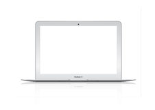 Illustration of New Apple Mac Book Air laptop stock illustration