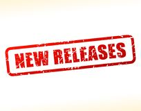 New releases text buffered Stock Images