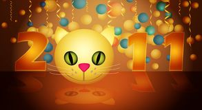 Illustration New Year Royalty Free Stock Photography
