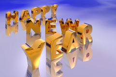 Illustration of new year. Text Royalty Free Stock Image
