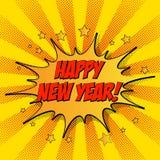 Illustration of New Year celebration card template. Colorful vector illustration of New Year celebration card template royalty free illustration