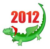Illustration new year's merry dragon Stock Images
