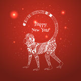 Illustration of New Year 2016 Royalty Free Stock Photo